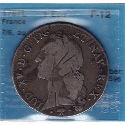 World Coins - France 1 Ecu 1767L