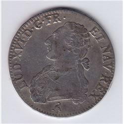 World Coins - France 1 Ecu 1791A