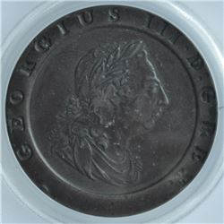 World Coins - Great Britain 2 Pence 1797