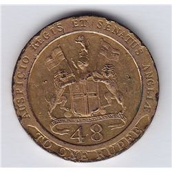 World Coins - India 1/48 Rupee 1794