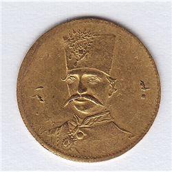 World Coins - Iran 5000 Dinars AH 1303 (1885)