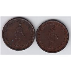 Br. 521. Quebec Bank penny, 1837. small ground, large period.