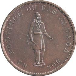 Br. 522. City Bank halfpenny, 1837.