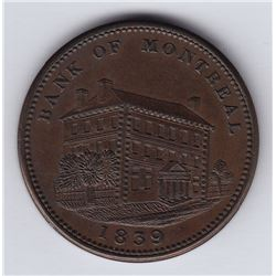 Br. 525. Banque du Peuple Sideview Penny, 1839.