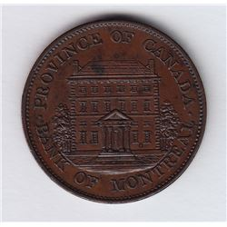 Br. 527. Bank of Montreal Front View Halfpenny, 1842.