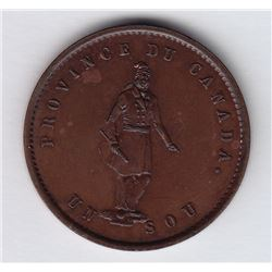 Br. 529. Quebec Bank Halfpenny, 1852.