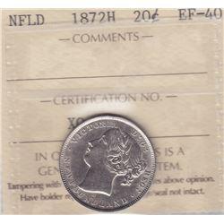 1872H Newfoundland Twenty Cents
