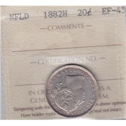 1882H Newfoundland Twenty Cents