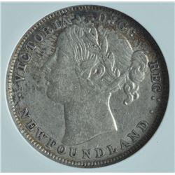1885 Newfoundland Twenty Cents