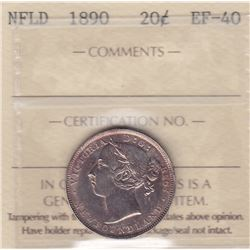 1890 Newfoundland Twenty Cents