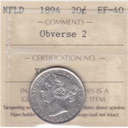 1894 Newfoundland Twenty Cents