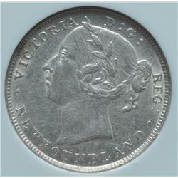 1900 Newfoundland Twenty Cents