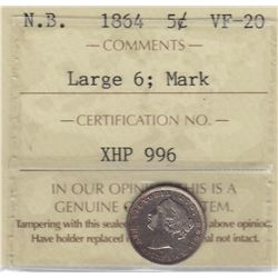 1864 New Brunswick Five Cents