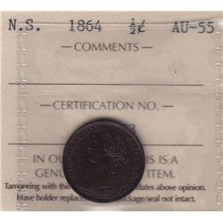 1864 Nova Scotia Half Cent