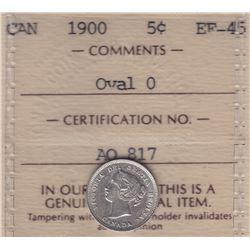 1900 Five Cents