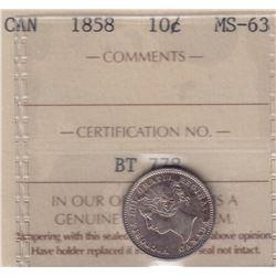 1858 Ten Cents