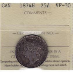 1874H Twenty Five Cents