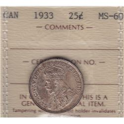 1933 Twenty Five Cents
