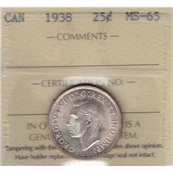 1938 Twenty Five Cents
