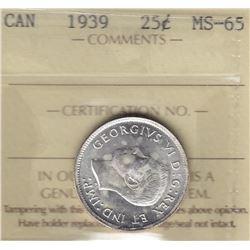 1939 Twenty Five Cents
