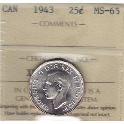 1943 Twenty Five Cents