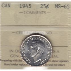 1945 Twenty Five Cents