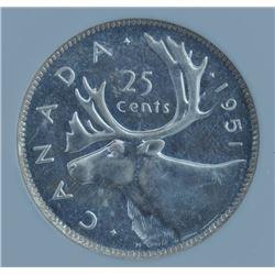1951 Twenty Five Cents