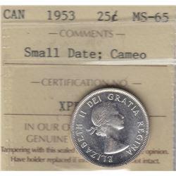 1953 Twenty Five Cents
