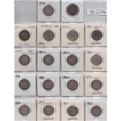 Lot of Fifty Four Twenty Five Cents