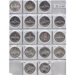Lot of Seventeen Uncirculated Silver Dollars