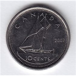 2007 Thick Planchet Canada Ten Cent Error Coin