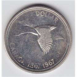 1967 Double Struck Goose Silver Dollar