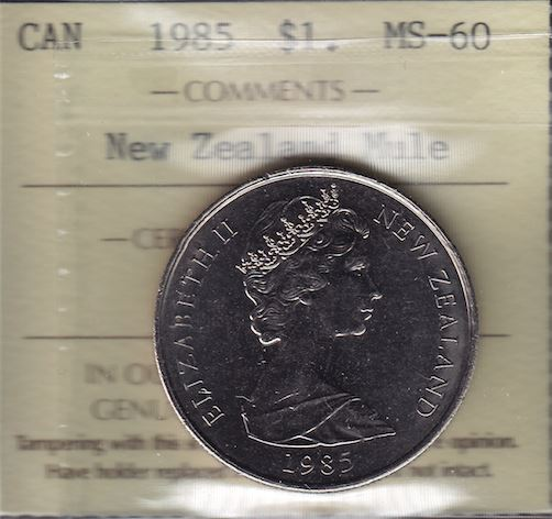 1985 New Zealand / Canada Dollar Mule