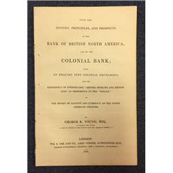 Bank of British North America & Colonial Bank History, Principles and Prospects