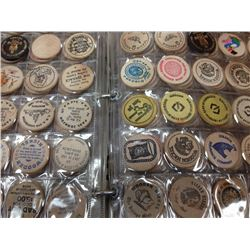 Unparalleled lot of Wooden Tokens with over 3000 woods from Canada and the World.