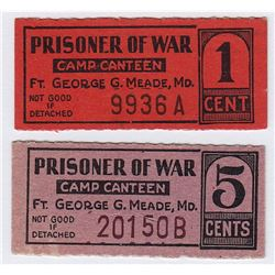 Prisoner of War Money - Fort George G. Meade (Maryland)