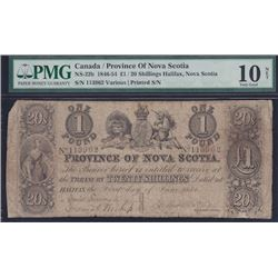 1854 Province of Nova Scotia One Pound Treasury Note