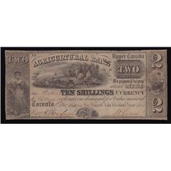 1835 Agricultural Bank Two Dollars