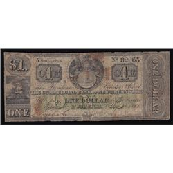 1860 Commercial Bank of New Brunswick One Dollar