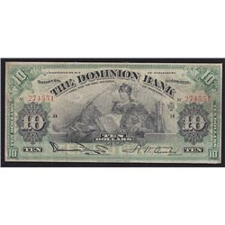 1925 Dominion Bank Ten Dollars