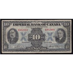 1933 Imperial Bank of Canada Ten Dollars