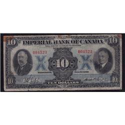 1933 Imperial Bank of Canada Ten Dollars