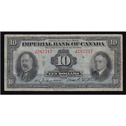 1934 Imperial Bank of Canada Ten Dollars