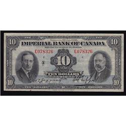 1939 Imperial Bank of Canada Ten Dollars