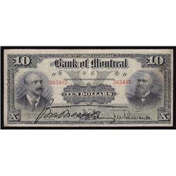 1904 Bank of Montreal Ten Dollars
