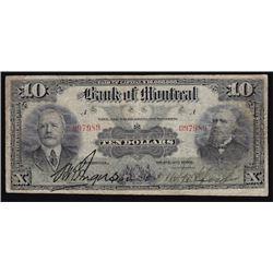 1912 Bank of Montreal Ten Dollars
