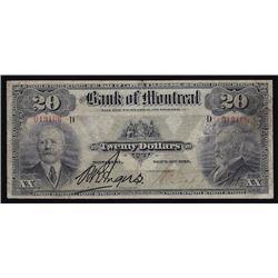 1912 Bank of Montreal Twenty Dollars