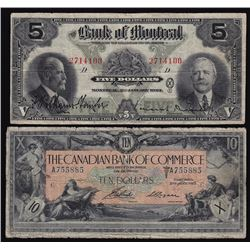 Lot of Two Chartered Bank Notes
