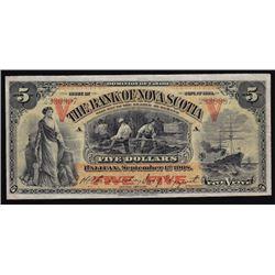 1908 Bank of Nova Scotia Five Dollars