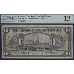 1913 Royal Bank of Canada Ten Dollars